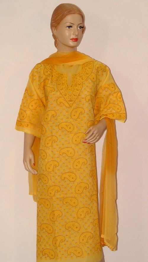 Buy chikankari suits online, Pure chikankari suits, Trendy ...