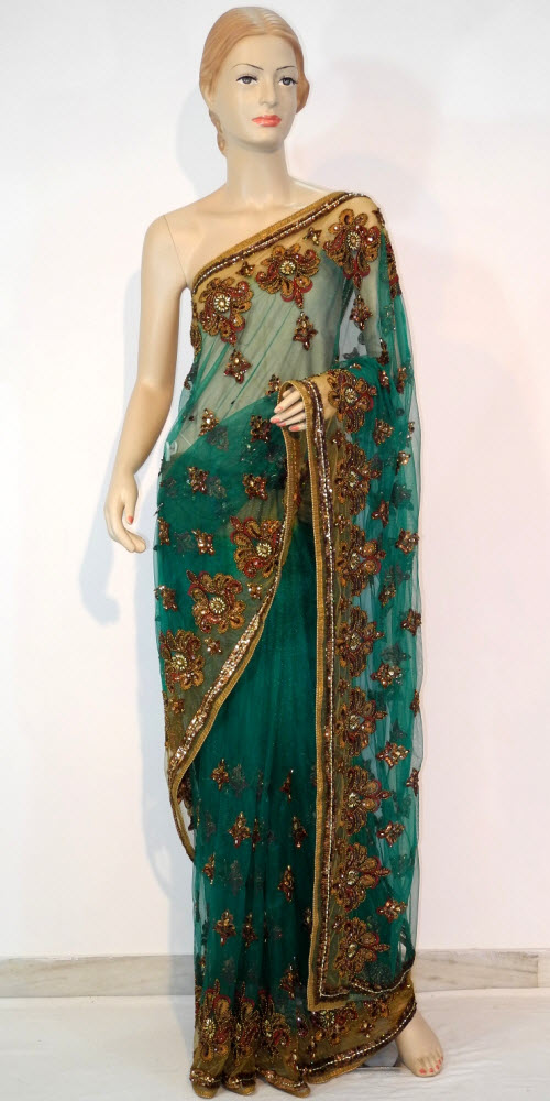 Designer Embroidered Saree 10664