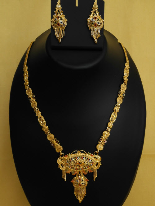 23.5 Carat Gold-Plated Necklace Set 10818