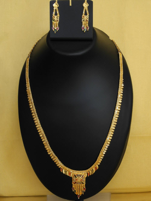 23.5 Carat Gold-Plated Necklace Set 10822