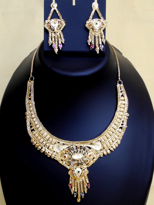 23.5 Carat Gold-Plated Necklace Set 10828