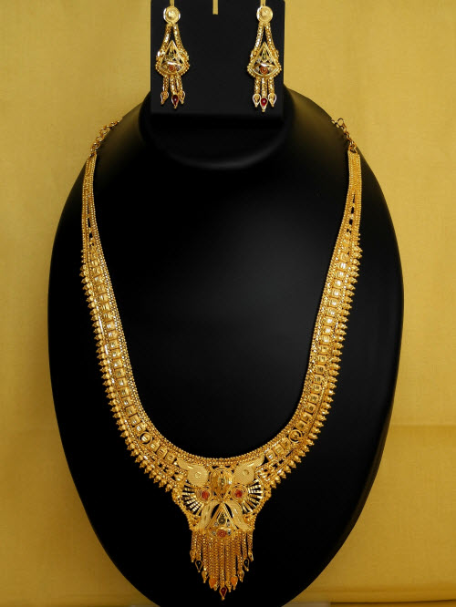 23.5 Carat Gold-Plated Necklace Set 10834