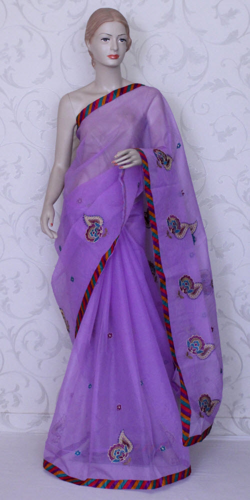 Embroidered Kota Saree (Supernet) 11871