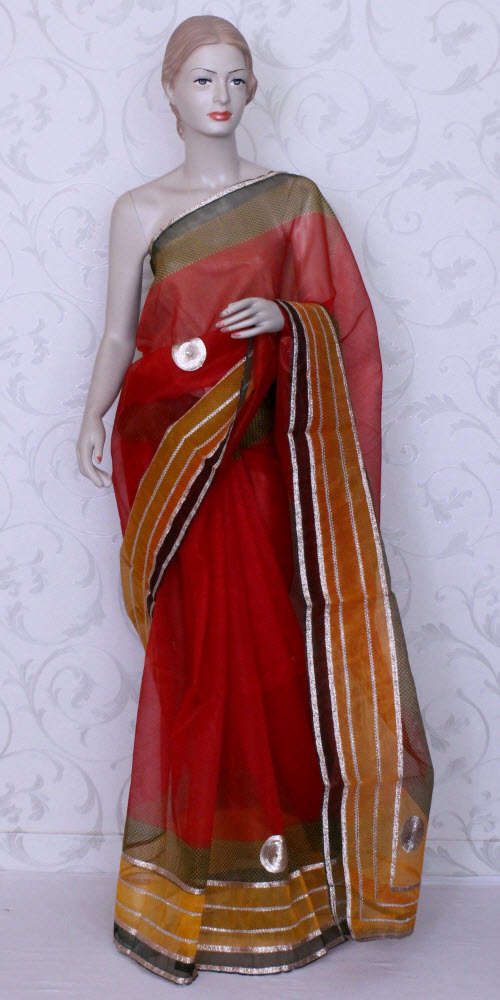Traditional Kota Supernet Saree (Gota-Patti) 11890