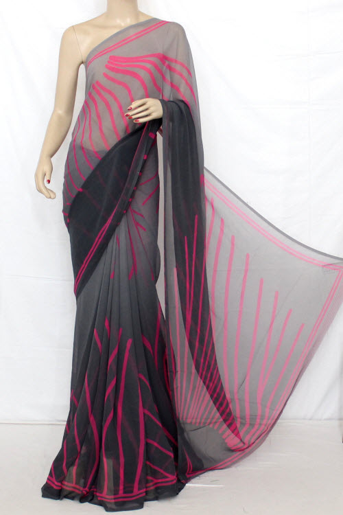 Printed Dx Quality Faux Georgette Saree (with Blouse) 13283