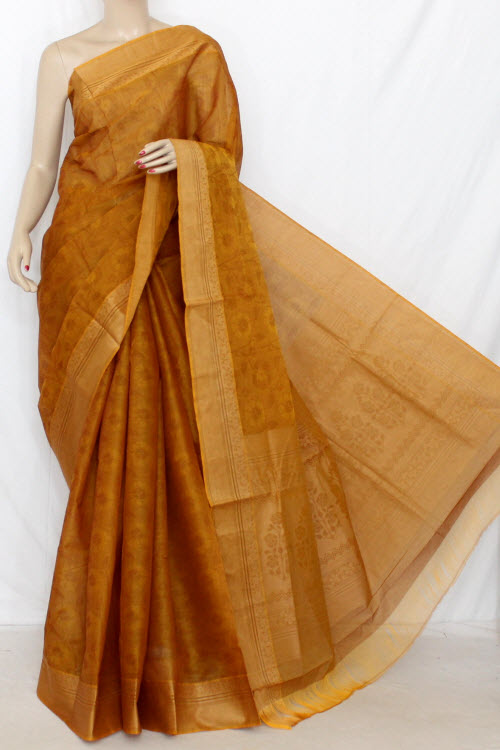 Mustared Dhoop-chhaon South Cotton Handloom Saree (with Blouse) 13898